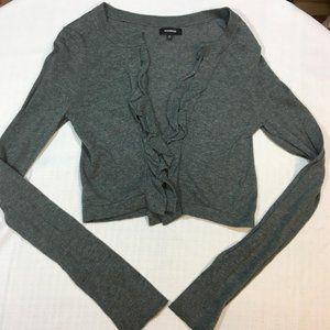 Express Long Sleeve Shrug Cardigan Gray Medium